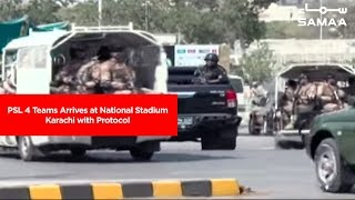 PSL 4 Teams Arrives at National Stadium Karachi with Protocol | SAMAA TV | 08 March 2019