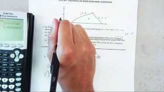 2012 ap calculus ab free response question 2
