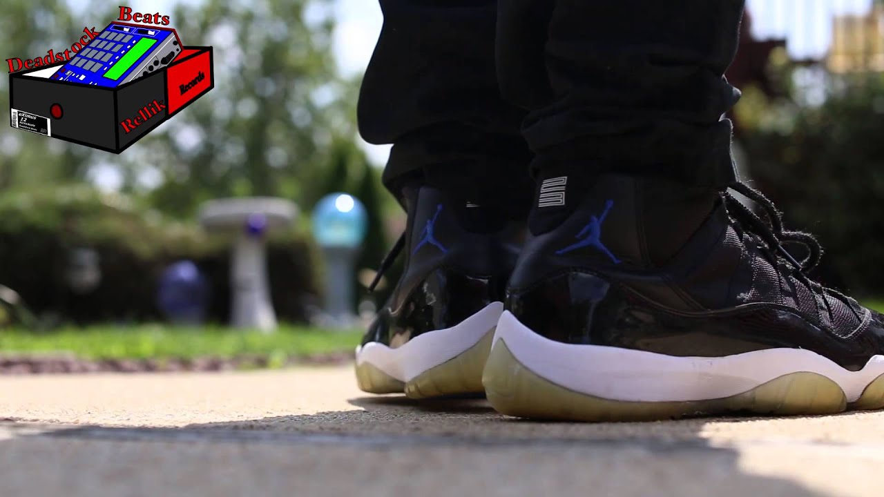 Jordan 11 Space Jam On Feet