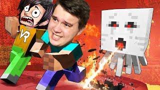 VR | СПУСТИЛИСЬ В АД В ВИРТУАЛЬНОЙ РЕАЛЬНОСТИ - Minecraft ВР #3
