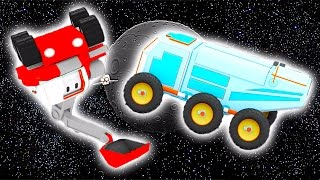 The Moon Vehicle - Learn with Tiny Trucks on the Moon