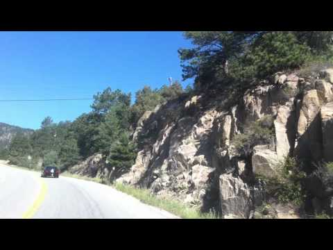 Drive from Lyons, Colorado to Estes Park....before the fire 6/23/12
