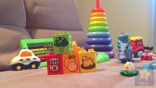 Мои игрушки. Карточки Домана. Развивающее видео для малышей от 0 до 3 лет.