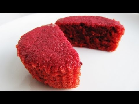 How to make Natural Red Velvet Cupcakes without Food Colouring: easy recipe