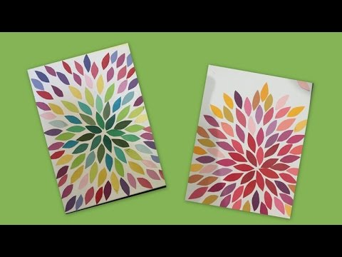Easy Canvas art/beginners /Kids craft/ Paper craft/home ...