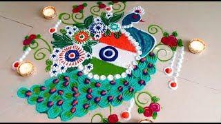 Video Beautiful / Unique NATIONAL FLAG & NATIONAL BIRD Rangoli design | Independence day rangoli kolam! download MP3, 3GP, MP4, WEBM, AVI, FLV Agustus 2018