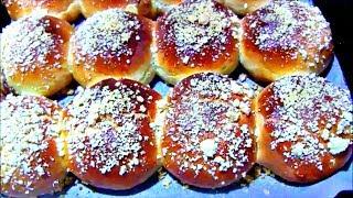 Булочки с вареной сгущенкой и штрейзелем / Дрожжевые булочки с посыпкой