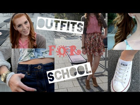 outfits f r die schule uni schuloutfits youtube. Black Bedroom Furniture Sets. Home Design Ideas
