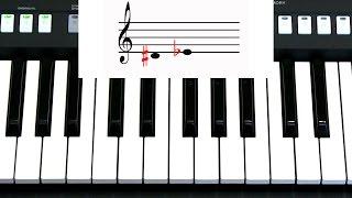 Самоучитель игры на синтезаторе. Урок 6. Тон. Полутон. Знаки альтерации.