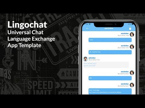 language exchange chat app