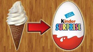 DIY - Мороженое в Киндер Сюрпризе. Kinder SURPRISE УЖЕ НЕ БУДЕТ ПРЕЖНИМ