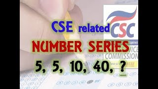 MATH: 10 items number SERIES for CIVIL SERVICE EXAM