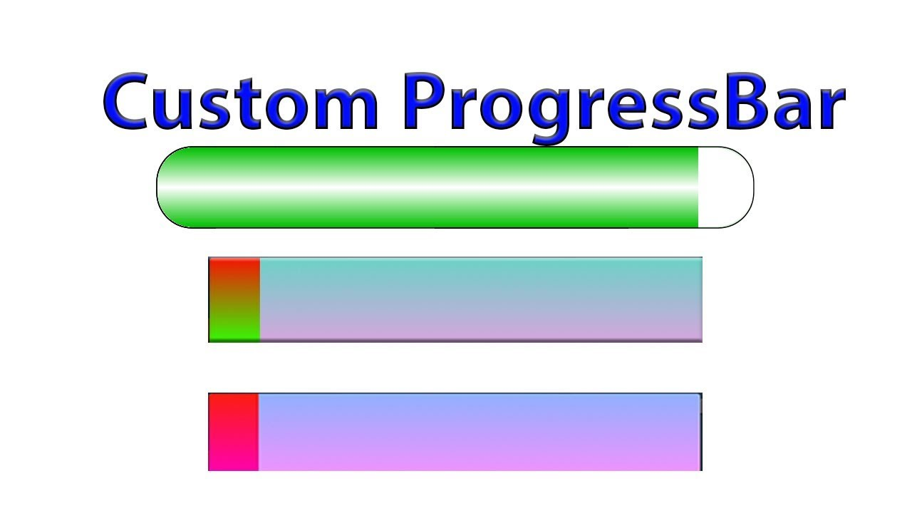 How to create custom progress bar in Android
