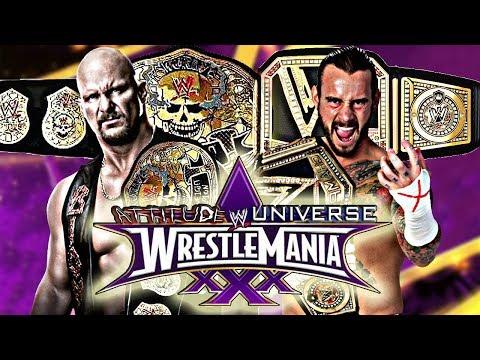 """Stone Cold"" Steve Austin vs CM Punk W/Promo | Wrestlemania 30 Pt 16"
