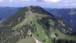 Drone Flight VLog Tegernsee Bavaria From Mountain Top sight