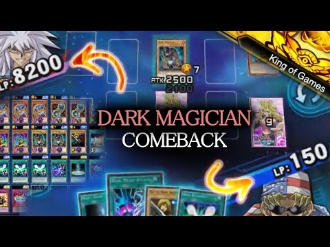 [Yu-Gi-Oh! Duel Links] King of Games | Dark Magician COMBO DECK | Comeback from 150 LP