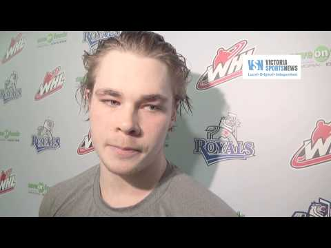 Post-game Victoria Royals media scrum: Dan Price, Dante Hannoun and Tanner Kaspick