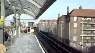 3 DLR trains at Shadwell Stn