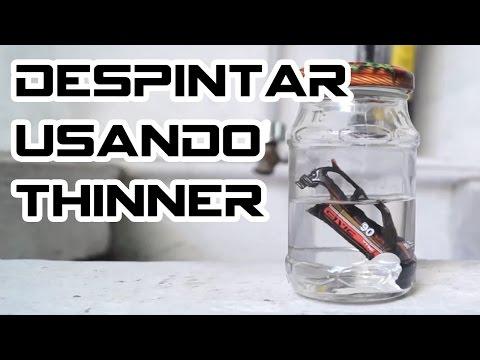 Como despintar usando thinner