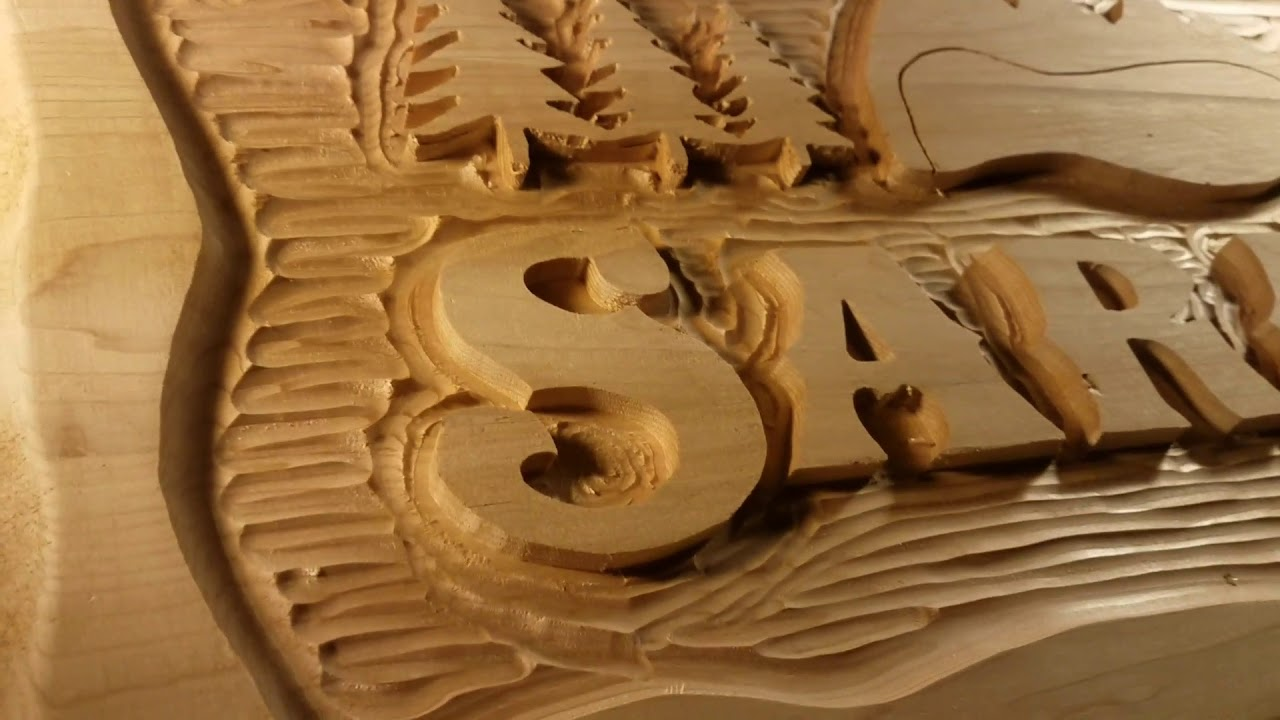 Premium carved cedar adirondack sign! youtube