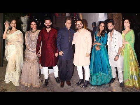 Aamir Khan's GRAND Diwali Party 2017 - Shahrukh,Kareena,Shahid,Saif,Deepika,Ranbir,Alia