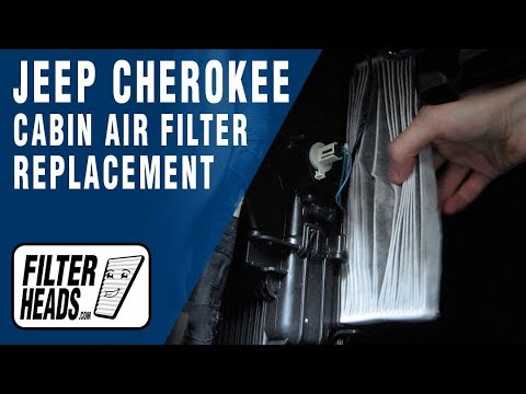 Cabin air filter replacement - Jeep Cherokee