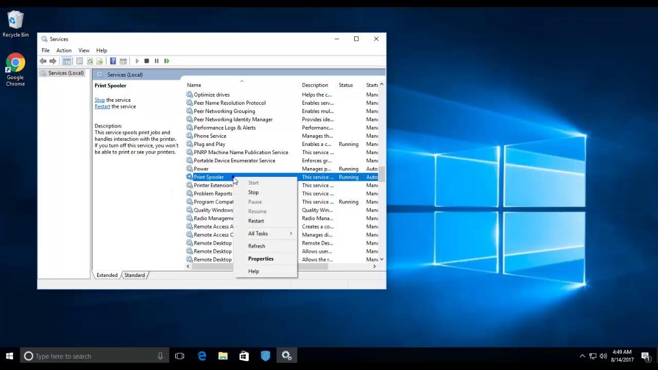 Hướng Dẫn Các Bước Để Tắt Print Spooler Trên Windows 10 - HUY AN PHÁT