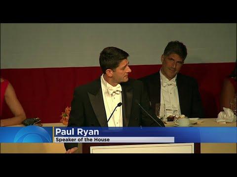 Speaker Paul Ryan Pokes Fun Of POTUS, Self At Fundraising Dinner