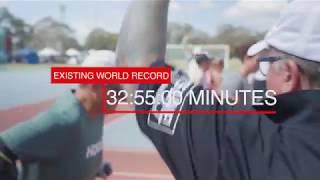 Michael Milton attempts world record #3 - fastest 5km on crutches