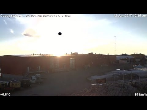 [Flat Earth] 2017-01-12 Casey Time lapse 24 Hour Sun Antarctica