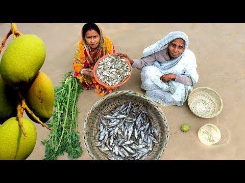 Mango Morola Fish Recipe prepared by Grandmother | Village Style Amm diye Morola Macher TOK