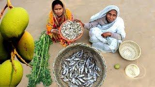 Mango Morola Fish Recipe prepared by Grandmother   Village Style Amm diye Morola Macher TOK
