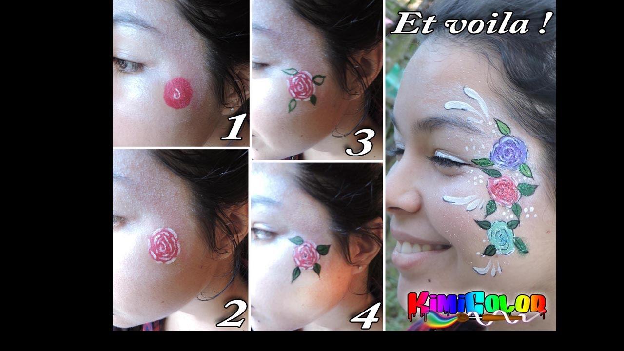 Maquillage Facile Pour Débutant Une Fleur Simple Et Facile Youtube