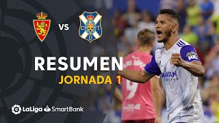Resumen de Real Zaragoza vs CD Tenerife (2-0)