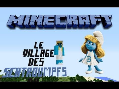 Minecraft le village des schtroumpfs 3 la maison du - Schtroumpf maison ...