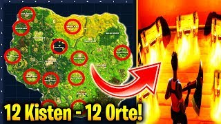 SEARCH BOXES IN DIFFERENT NAMED PLACES! | Fortnite | Battle Pass Week 10 | Challenge