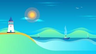 Easy Landscape Illustration | Tutorial | Adobe illustrator