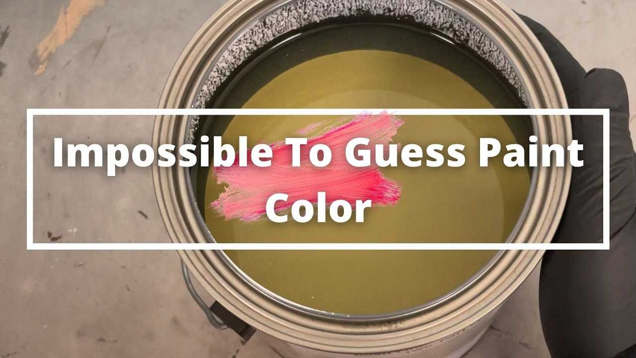 Impossible To Guess Paint Color (ASMR) #shorts