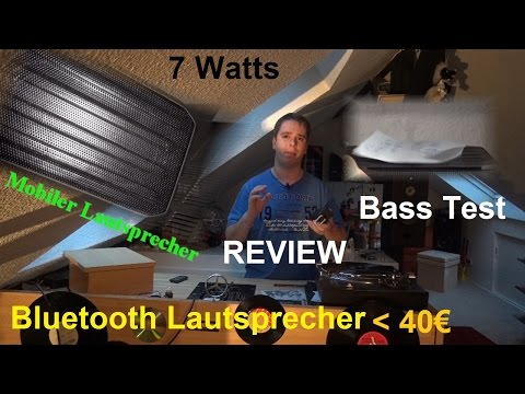 Bluetooth Lautsprecher Test Review Unboxing Deutsch 2015