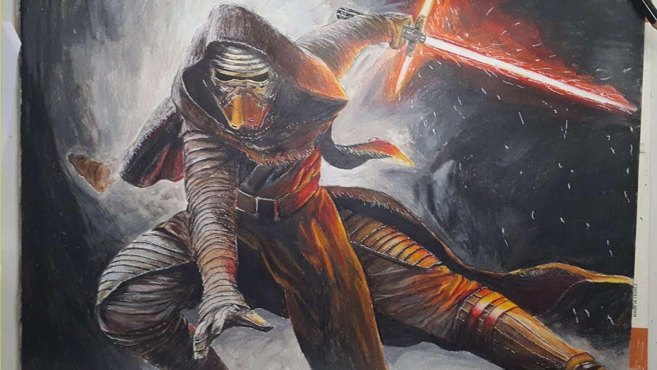 How To Draw Speed Drawing Kylo Ren Star Wars Youtube