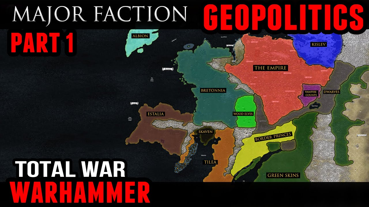 Total War Warhammer Geopolitics Major Factions Youtube