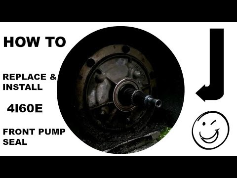 HOW TO REPLACE THE FRONT TRANSMISSION SEAL ON A 4L60E