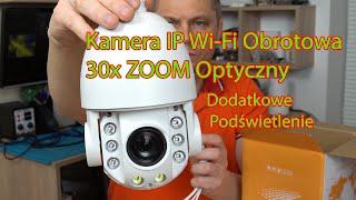 Kamera IP WiFi obrotowa 30x ZOOM Optyczny - do monitoringu zewnętrznego z Funkcją Alarmu!