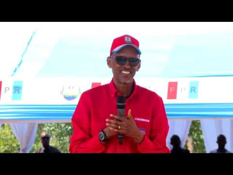 RPF Chairman Paul Kagame campaigns in  Nyamasheke    29 July 2017