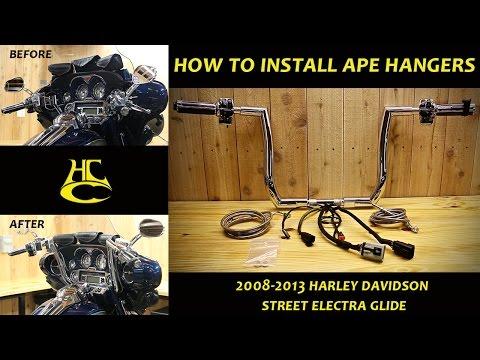 how-to-install-ape-hanger-handlebars-on-2008-2013-harley-davidson-street-electra-glide