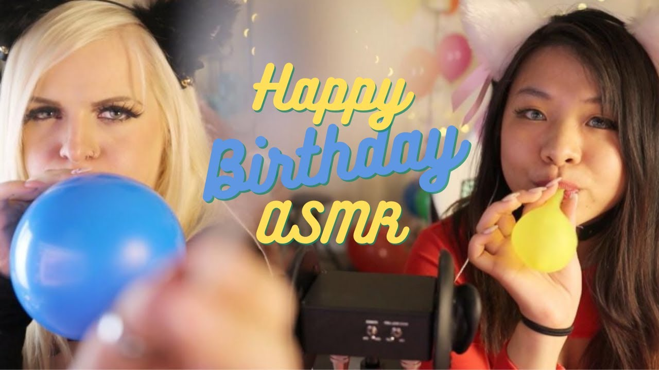 Download Helium Balloon ASMR Spaghetti and MORE! | Happy Birthday to Me | Featuring ASMR Shanny