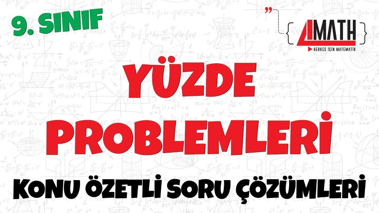 Yüzde Problemleri - Konu Özetli Soru Çözümleri