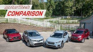 Comparison Test: Hyundai Kona, Nissan Rogue Sport, Subaru Crosstrek and Ford Ecosport