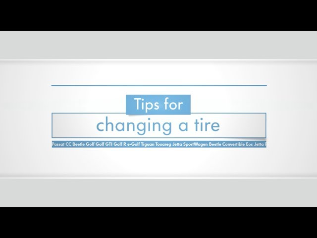 Tips for Changing a Tire