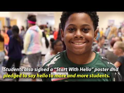 """Start With Hello"" at Louisa County Middle School - September 2018"